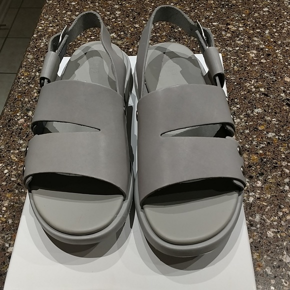 Womens Camper TWS Navy Flat Leather Crossover Sandals Sz Size